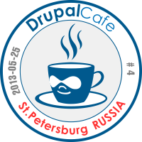 DrupalCafe #4 in Saint Petrsburg Badge